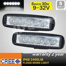 Pair LED 30W Flood Work Light, LED front Head Light, Off road light