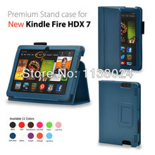 New Kindle Fire hdx 7 inch 2013 stand leather case cover folio case for Amazon Kindle Fire HDX 7 3013