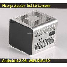 pico projector WXGA 854*480P Android 4.2 OS 200 lumens led mini pocket projector for iphone 5