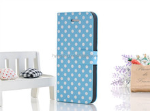 Polka Dot pattern leather case for iphone5/5s,case for iphone 5/5s