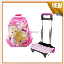 Cute cartoons kids trolley bag for girls