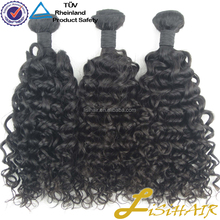Tangle Free Factory Stock Unprocessed peruvian jerry curl hair