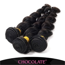 Chocolate hair 7A unprocessed virgin brazilian hair loose wave 16 18 20 3pcs natural color 100% human hair extentions