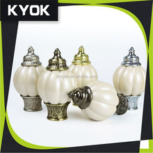 KYOK High End Special Design Resin Finial Plain Curtain pipe, Classic Base AB Color Curtian Rod Tops 28mm, Curtain Rod Cornice