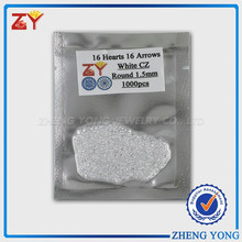 1.5mm Round 16 Hearts 16 Arrows White CZ on Sale