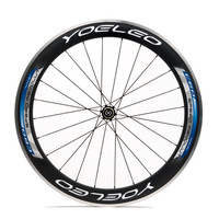 U Shape 25mm Carbon Clincher Alloy Brake 80mm Bike Wheels With Ceramic Bearing Sapim Spokes Straight Pull Hubs