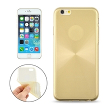 0.3mm Ultrathin CD Texture Transparent Soft TPU Case for iPhone 6