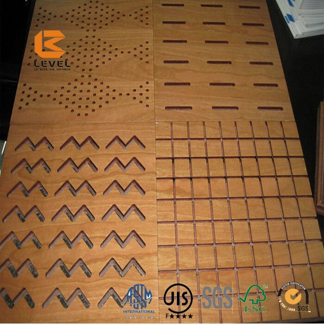 Perforado madera panel paneles fonoabsorbentes for Panel perforado madera