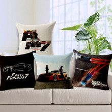 the film popular star real character image pattern for promotion/ad cushion covers