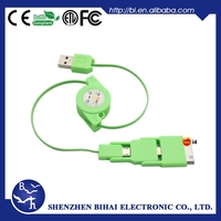 Standard USB Type and Mobile Phone Use 3 in 1 retractable usb cable