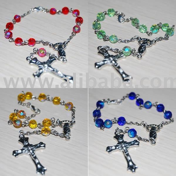 Chapelets, Chapelet perles, Rosaire religieuse, Catholique chapelet, Chapelet collier, Rosario, Chapelets