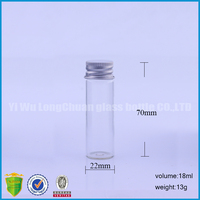glass tube vials with metal screw cap 18ml