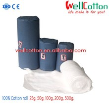 soft and white for medical use Cotton Woll Rolls 100% cotton