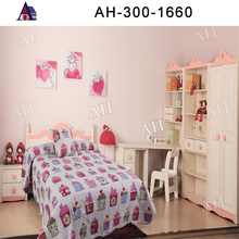 Funny Cupcake Printed Bed Sheet for Girl
