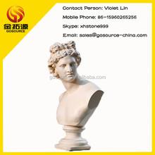 stone roman man bust sculpture