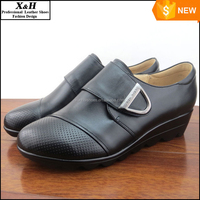 Big Size Women Shoes40,41,42,43,44,45 Genuine Leather Women Wedges, High Quality Casual Diabetic Shoes