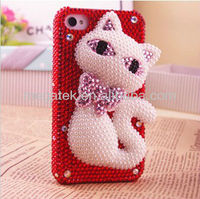 Cell phone accessories phone case sexy cat 3d Jewelry diamond bling phone cover for iphone galaxy