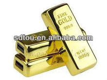 Promotional super gift usb gold bar usb flash drive 8gb,256MB,1gb,2gb 4gb usb stick gold bar