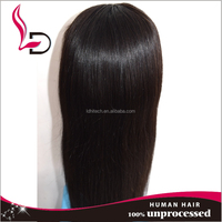 alibaba express qingdao raw virgin unprocessed wholesale elastic band brazilian hair glueless full lace wig