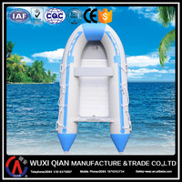 Inflatable boat with engine