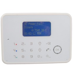 GSM security alarm system with telephone line support one central monitoring station phone number