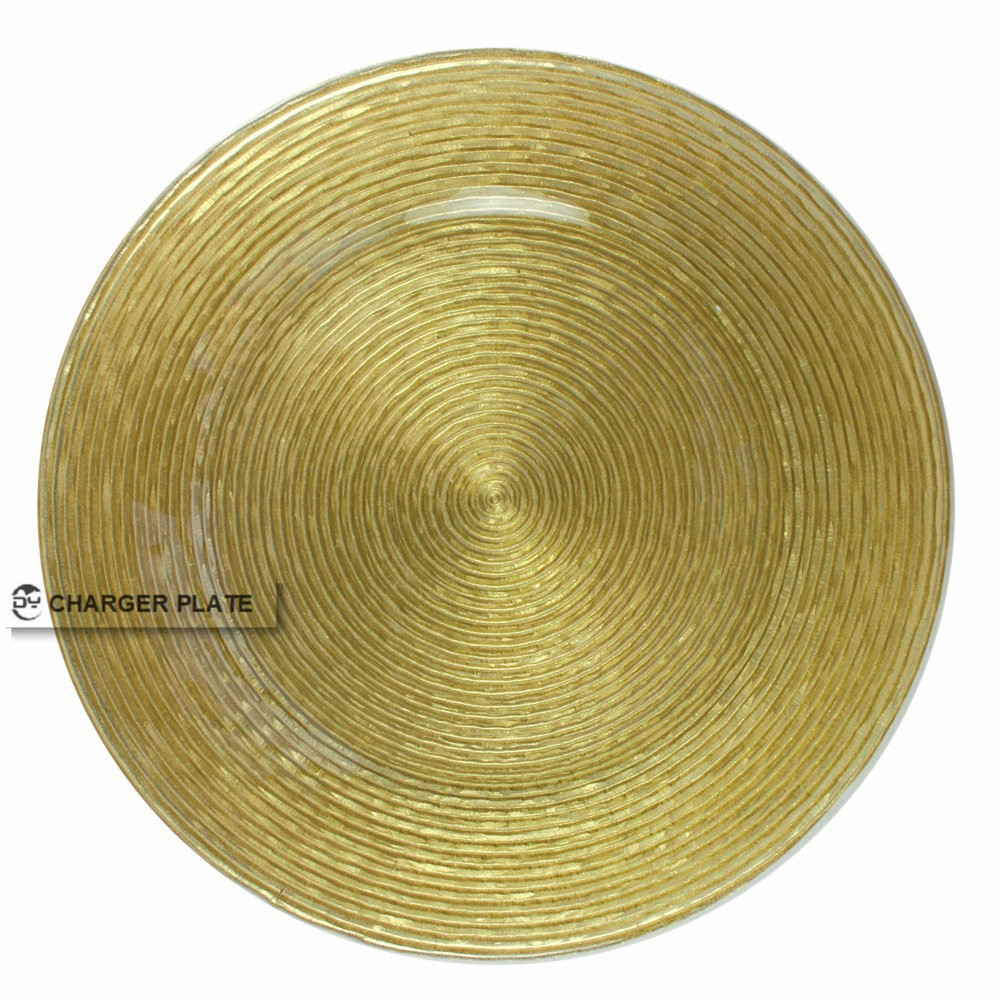 plate buy gold shine glass charger plate 13 wholesale charger plate