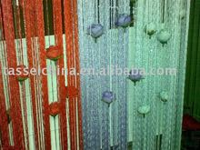 latested curtain fashion designs, string curtain with metallic(lurex)