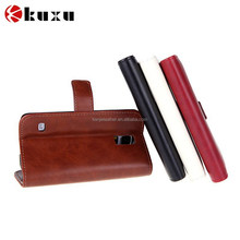 Top quality 100% genuine leather card holder cell phone case for Samsung s5