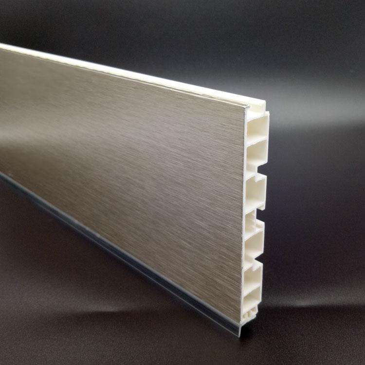 mm pvc perfil de extrusin de plstico cocina rodapi
