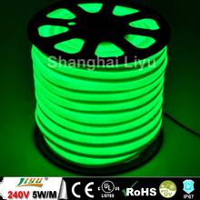 12x26mm 80led/m led flex tube neon green color #LY-CL-24V-SG