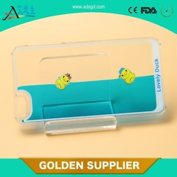 2015 best Liquid Lovely Duck Shell Hard Back Case Colorful Dynamic Sea World Swimming Duck Transparent clear Cover for iphone 5