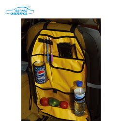 Yellow Color Car Seat Organizer , Seatback Tidy Bag for Baby and Kids