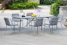 Derechos de autor artículo! exterior de aluminio mesa rectangular polywood silla