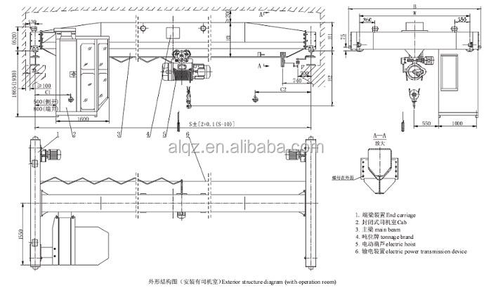 lda model single girder crane