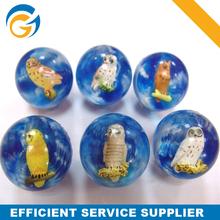 Cat Owl Transparent Rubber Ball for Handball for Sale