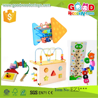 EN71 high quality wooden beads toys OEM/ODM educational colorful wood gift toys for kids