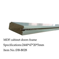 PVC wrapped mdf jamb profile for kitchen cabinet