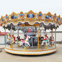 Amusement park kids musical swing carousel for sale