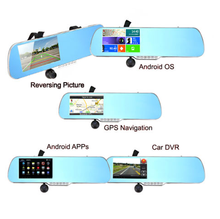"1080P 5"" Wifi Android GPS Car Camera Video Recorder Rearview Mirror Monitor DVR"