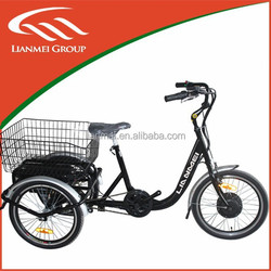 electric tricycle for kids/adult with basket, electrical bicycle with 250w electric bike motor