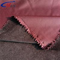 Bordeaux cation short pile velvet warp knitting track suit fabric for suit/shoes/dress/garment/bag/curtain with fasion design