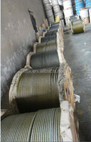 ungalvanized and galvanized steel wire rope price with yellow oil