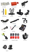 2015 new extreme sport action camera go pro camera accessories set, kit