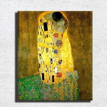 Without frame famous art painting reproduction Gustav Klimt painting
