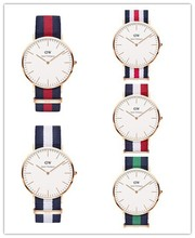 2015 DW watch, wrist watch new design , fashion watches with cloth band