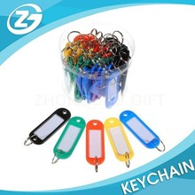 Assorted Color Hard plastic ID Label Blank Plastic Key Tags