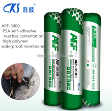 single or double self-adhesive waterproof membrane for roofing and basement
