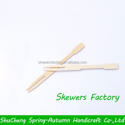 Disposable Bamboo cocktail fork / Mini Bamboo fork for salad / Nature bamboo fruit fork