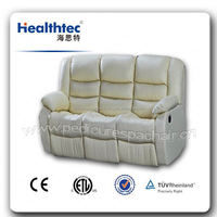 2014 popular automatic orange recline sofa