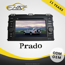 Double Din Car DVD GPS For Toyota Prado 7inch Touch Screen With Rear-view Camera